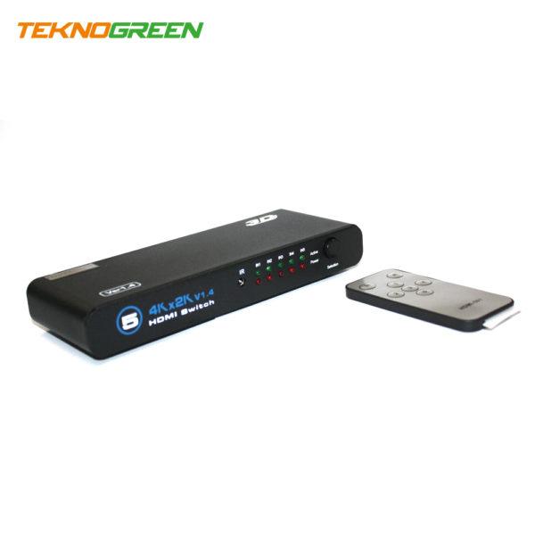 TeknoGreen THS-005 5 Giriş - 1 Çıkış 4K Kumandalı HDMi Switch (1)