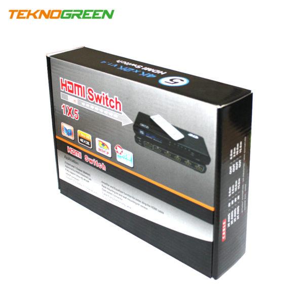 TeknoGreen THS-005 5 Giriş - 1 Çıkış 4K Kumandalı HDMi Switch (4)